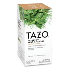 Tea Bags, Refresh Mint, 1 Oz, 24/box