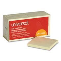 Self-Stick Note Pads, 3 X 3, Yellow, 100-Sheet, 12/pack