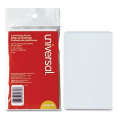"""LAMINATING POUCHES, 5 MIL, 5.5"""" X 3.5"""", MATTE CLEAR, 25/PACK"""