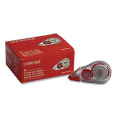 "CORRECTION TAPE DISPENSER, NON-REFILLABLE, 1/5"" X 315"", 6/PACK"