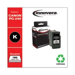 REMANUFACTURED BLACK INK, REPLACEMENT FOR CANON PG-240 (5207B001), 180 PAGE YIELD