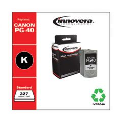 REMANUFACTURED BLACK INK, REPLACEMENT FOR CANON PG-40 (0615B002), 327 PAGE YIELD