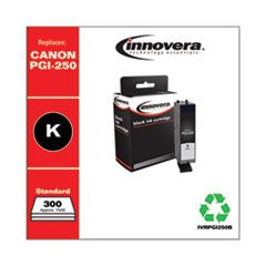 REMANUFACTURED BLACK INK, REPLACEMENT FOR CANON PGI-250B (6497B001), 300 PAGE YIELD