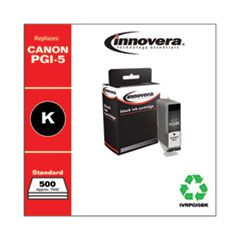 REMANUFACTURED BLACK INK, REPLACEMENT FOR CANON PGI-5BK (0628B002), 500 PAGE YIELD