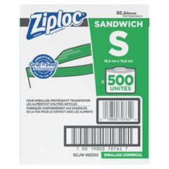 """RESEALABLE SANDWICH BAGS, 1.2 MIL, 6.5"""" X 6"""", CLEAR, 500/BOX"""