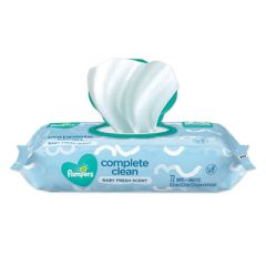 COMPLETE CLEAN BABY WIPES, 1-PLY, BABY FRESH, 72 WIPES/PACK, 8 PACKS/CARTON