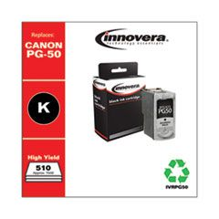 REMANUFACTURED BLACK HIGH-YIELD INK, REPLACEMENT FOR CANON PG-50 (0616B002), 510 PAGE YIELD