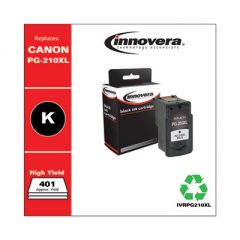 REMANUFACTURED BLACK HIGH-YIELD INK, REPLACEMENT FOR CANON PG-210XL (2973B001), 401 PAGE YIELD
