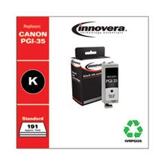 REMANUFACTURED BLACK INK, REPLACEMENT FOR CANON PGI-35 (1509B002), 191 PAGE YIELD
