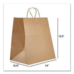 KRAFT PAPER BAGS, SUPER ROYAL, 14 X 9.75 X 15.5, NATURAL, 200/CARTON