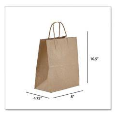 KRAFT PAPER BAGS, TEMPO, 8 X 4.75 X 10.5, NATURAL, 250/CARTON
