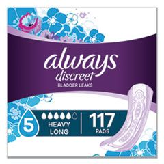 DISCREET SENSITIVE BLADDER PROTECTION PADS, HEAVY, LONG, 39/PACK