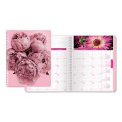 PINK RIBBON MONTHLY PLANNER, 8.88 X 7.13, PINK, 2021