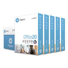 OFFICE20 PAPER, 92 BRIGHT, 20LB, 8.5 X 11, WHITE, 500 SHEETS/REAM, 5 REAMS/CARTON