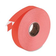 EASY-LOAD ONE-LINE LABELS FOR PRICEMARKER 1131, 0.44 X 0.88, FLUORESCENT RED, 2,500/ROLL