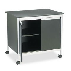 DELUXE STEEL MACHINE STAND, ONE-SHELF, 32W X 24.5D X 30.25H, BLACK