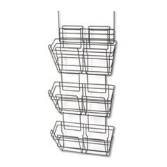 Panelmate Triple-File Basket Organizer, 15 1/2 X 29 1/2, Charcoal Gray