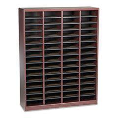 Wood/fiberboard E-Z Stor Sorter, 60 Slots, 40x11 3/4x52 1/4, Mahogany, 2 Boxes