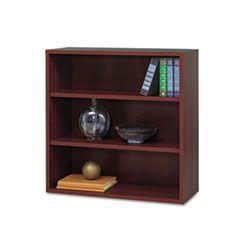 Apres Open Bookcase, Three-Shelf, 29-3/4w X 11-3/4d X 29-3/4h, Mahogany