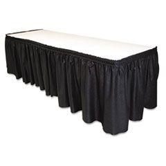 """Table Set Linen-Like Table Skirting, 29"""" X 14ft, Black"""