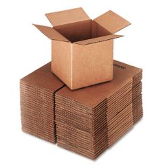 "CUBED FIXED-DEPTH SHIPPING BOXES, REGULAR SLOTTED CONTAINER (RSC), 6"" X 6"" X 6"", BROWN KRAFT, 25/BUNDLE"
