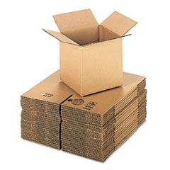 "CUBED FIXED-DEPTH SHIPPING BOXES, REGULAR SLOTTED CONTAINER (RSC), 8"" X 8"" X 8"", BROWN KRAFT, 25/BUNDLE"