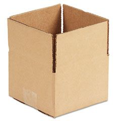"FIXED-DEPTH SHIPPING BOXES, REGULAR SLOTTED CONTAINER (RSC), 6"" X 6"" X 4"", BROWN KRAFT, 25/BUNDLE"