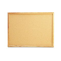 Cork Board With Oak Style Frame, 24 X 18, Natural, Oak-Finished Frame